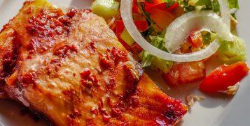 Filetto di salmone in crema di patate