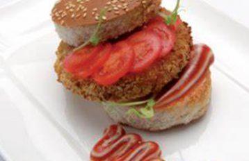 Hamburger di merluzzo panato